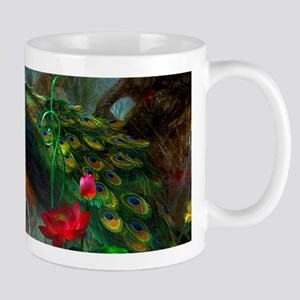 Beautiful Peacocks In Garden Mugs